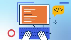 Grafiks illustration. Med en Open Source-lösning Kan du driva en expansiv B2B-shop som går att skräddarsy efter dina behov och växa med dig.